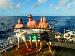 We caught a Marlin coming into Tonga