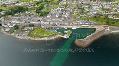 11.3 Carnlough Harbour from above