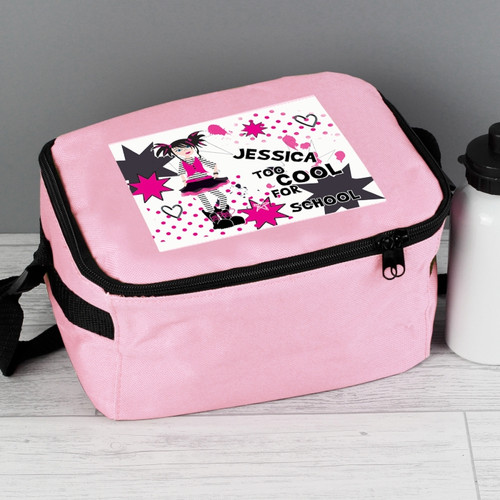 5ceff61af4b9 Personalised Too Cool Girl Lunch Bag
