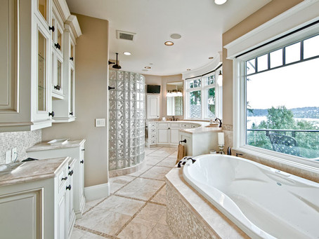 A Master Bathroom with a View
