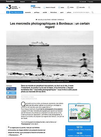 France 3 Région - Ka Bell - Photographie C dans La Boite Bordeaux