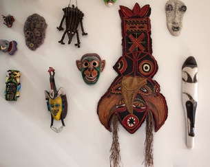 Judy Nelson-Moore Wall of Masks