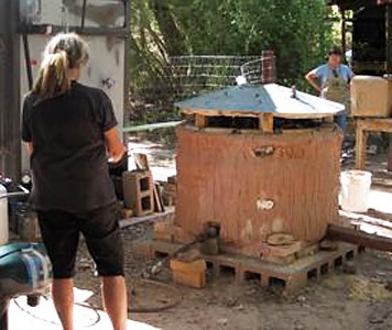 Ghost Ranch Fume Kiln at Pot Hollow, prior to 2015 flood