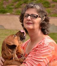 Nan Arthur and her dog Ginger.