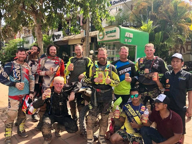 Cambodia MotorBike Tours - There's always time for a Beer