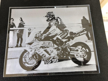 Laser engraved photograph on acrylic