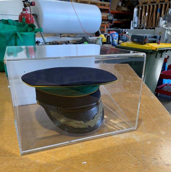 Wall mount hat display box