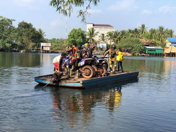 Cambodia MotorBike Tours - Just another River Crossing