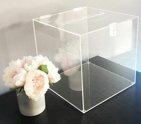 Clear acrylic wishing well box