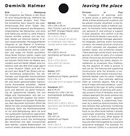 Dominik Halmer, leaving the place, Exhibition Cataloguee,