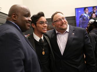 David Shapiro, CEO of MENTOR with Alan Tiburcio and Thomas Owens ED of MENTOR NEWARK