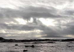 Botanical Beach cloud and rays 5 x 7