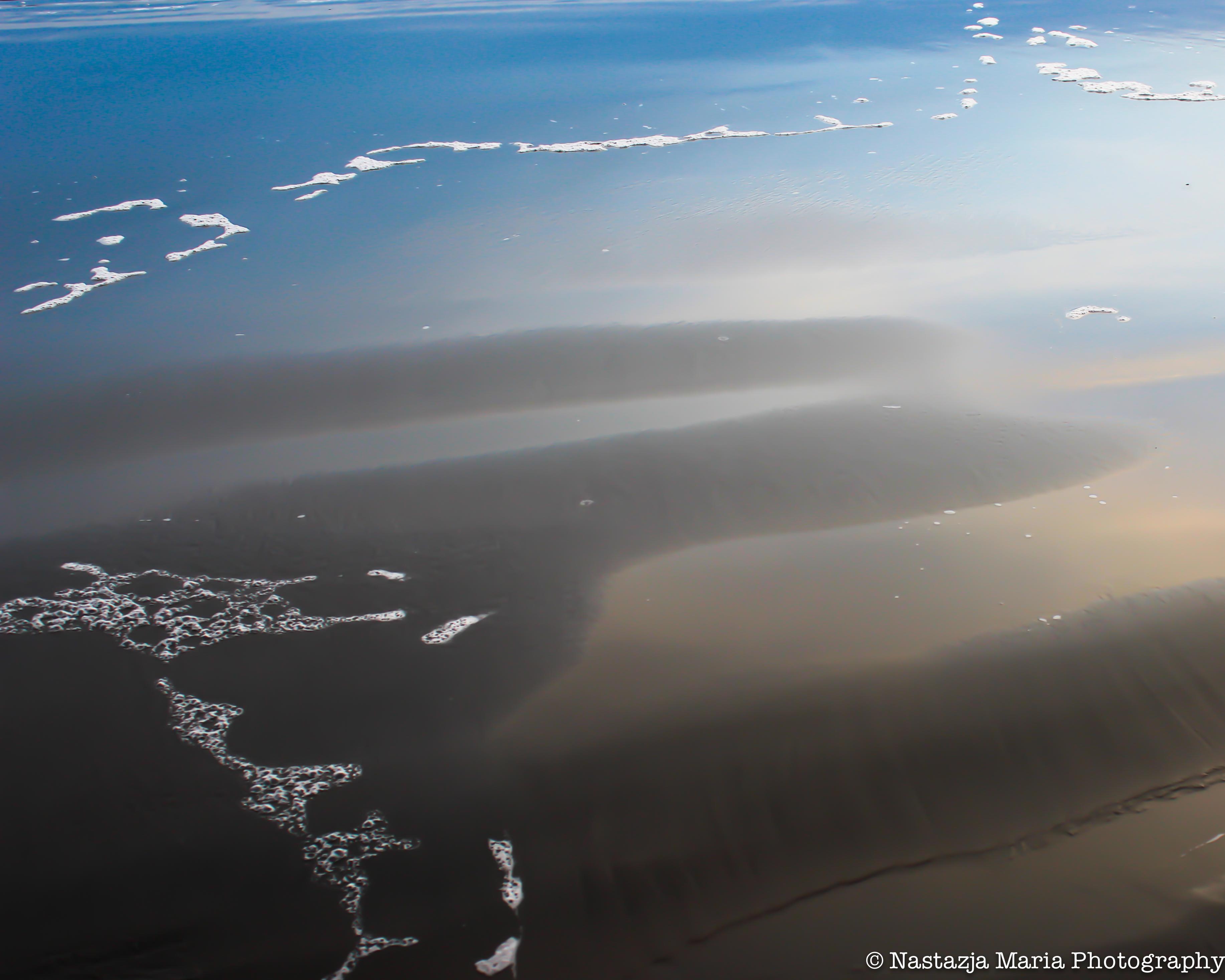 beach ripples with foam mark 8 x 10
