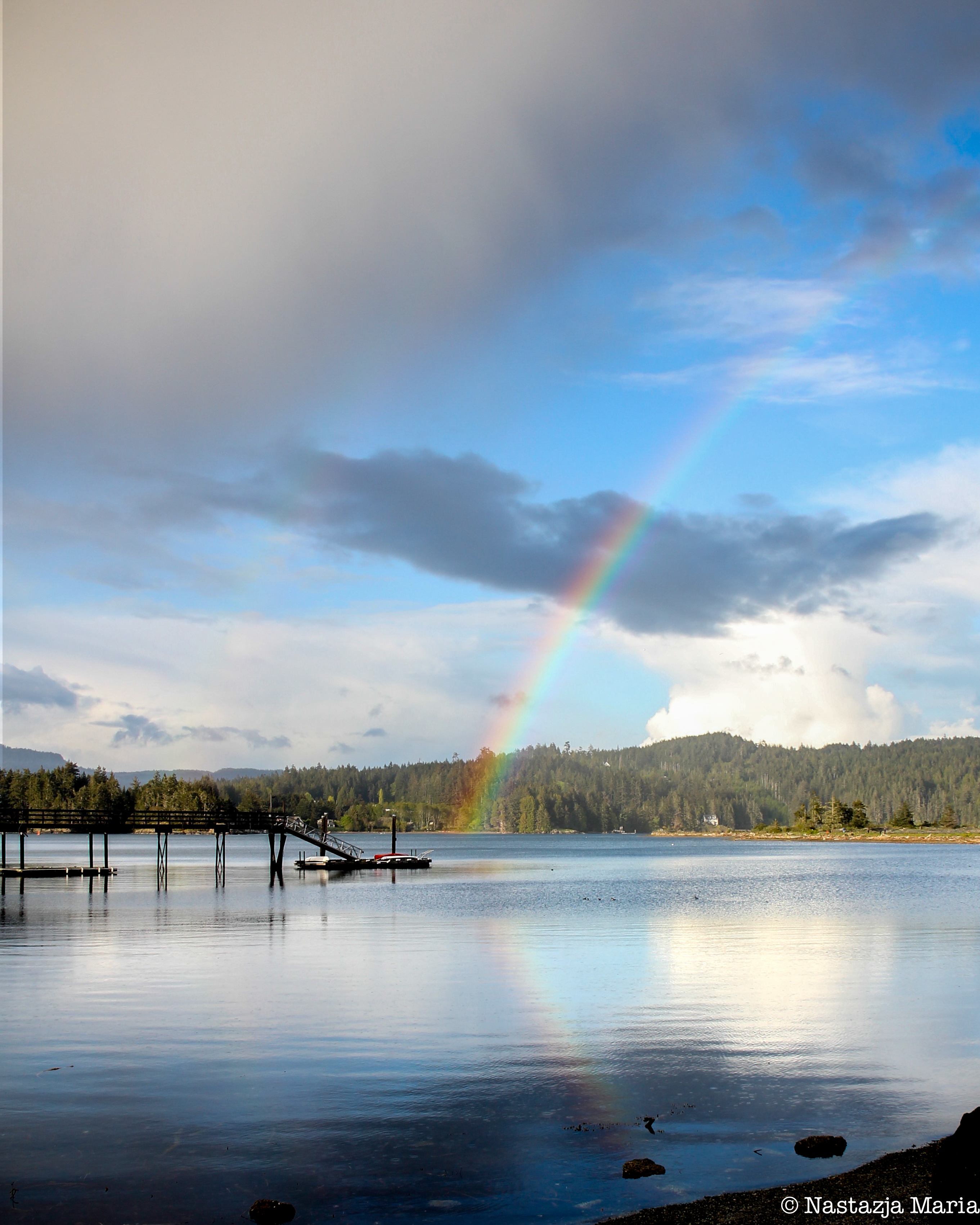 Rainbow at Whiffin Spit 8 x 10 with watermark.jpg