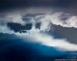 blue cloud abstract mark 8 x 10