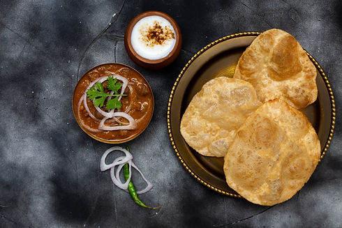 Chhole Bhature North Indian Dish - Love