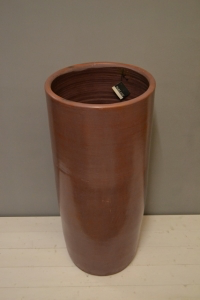 Brown Glazed Ceramic Planter