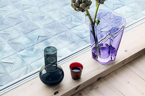 Iittala Aalto vase amethyst - Kartio glassware - blomster designs - uk stockists
