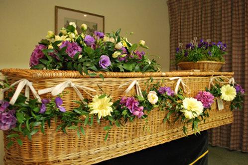 Casket garland - willow coffin