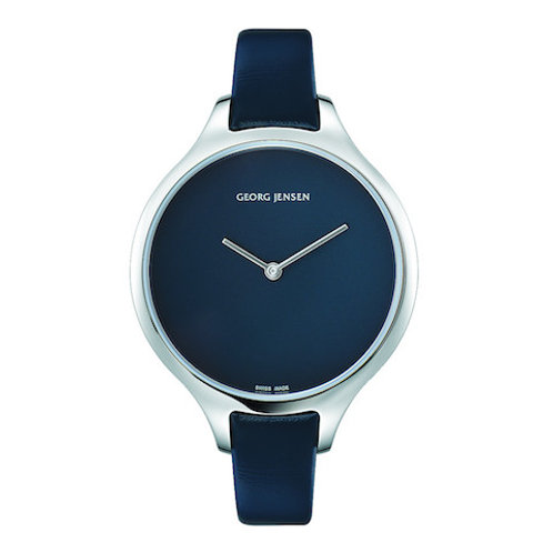 Georg Jensen Concave Watch - 39mm - Quartz - Blue Dial