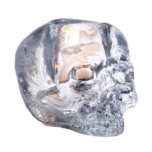 Kosta Boda Still Life Skull Votive - Clear