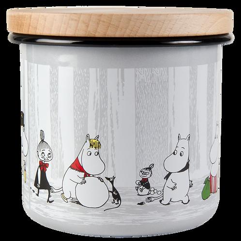 Moomin Storage Jar with Lid - Winter Trip