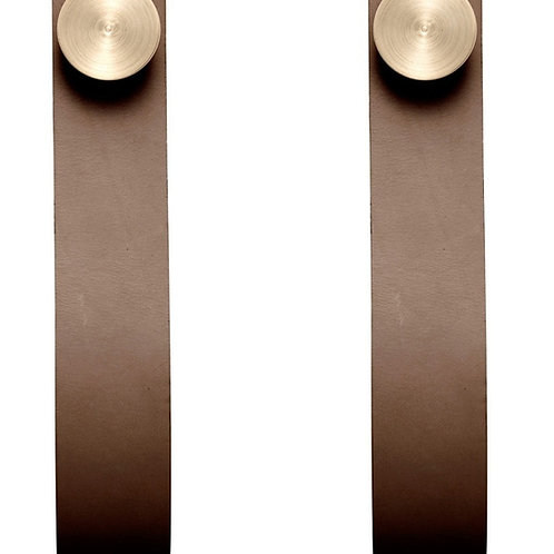 By Lassen Copenhagen - Stropp - 2pcs - Brass / Brown Leather