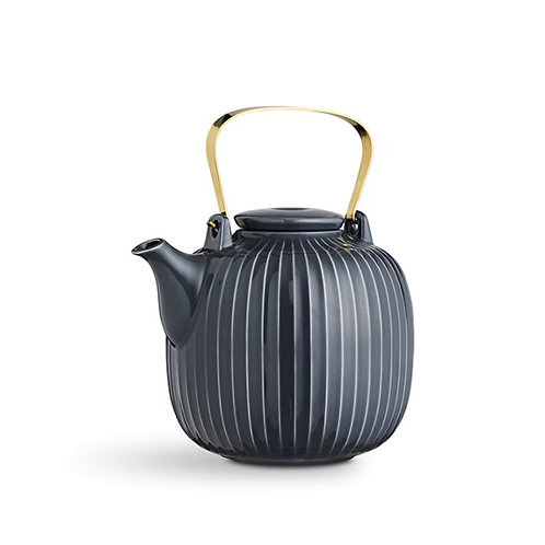Kahler Hammershøi Teapot - Anthracite - 1.2L