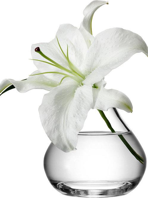LSA Flower Sprig Vase H11cm Clear