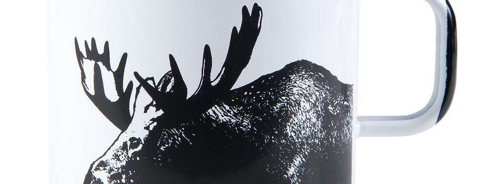 Muurla Nordic Enamel Mug Large - The Moose