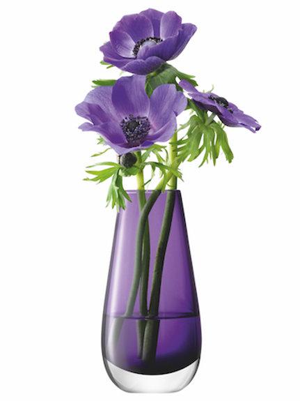 LSA Flower Bouquet Vase H14cm Violet