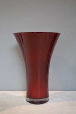 Brown Tapered Glass Vase