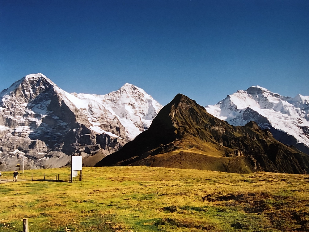 The Swiss Bernese Oberland is blessed with three mighty peaks, the Jungfrau, the Mönch and the Eiger, each of these has its own undeniable character.