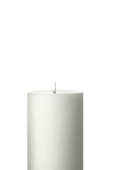 Ester & Erik White Pillar Candle 31 - 10cm - Matt