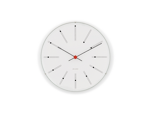 Arne Jacobsen Bankers Wall Clock - 21cm - Black, White, Red