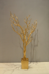 Artificial Gold Tree in a Pot