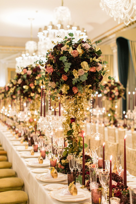 Cliveden House hotel – photography by Roberta Facchini. Candles By Ester and Erik supplied by Blomster Designs.