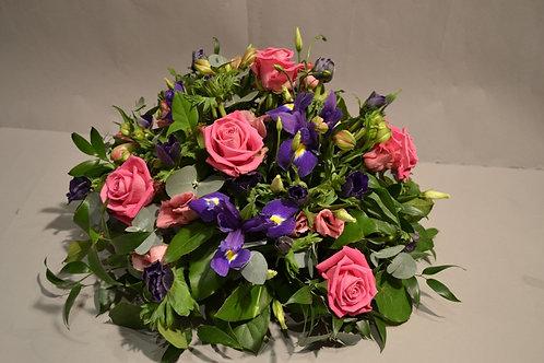 Pink & Purple Posy Arrangement - funeral flowers