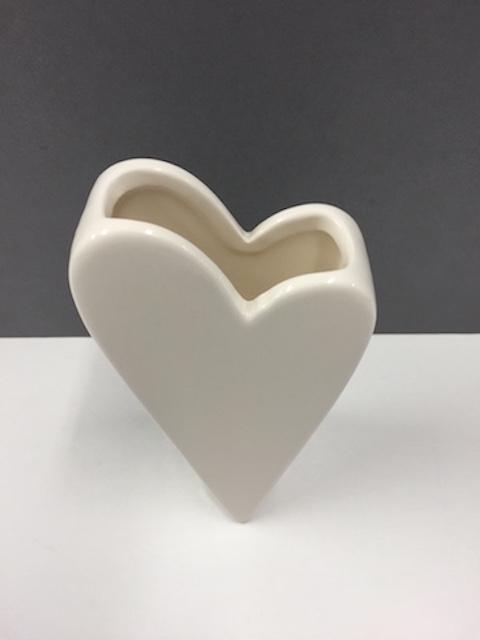 Heart Shaped Vase Ceramic