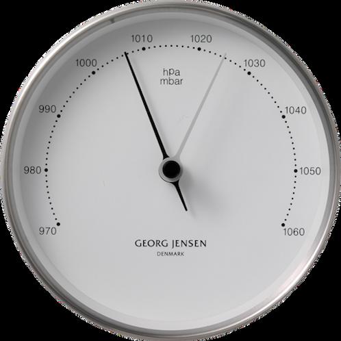 Georg Jensen Henning Koppel 10cm Barometer - Stainless Steel with White Dial