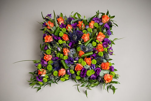 Open Cushion Sympathy Arrangement - funeral flowers