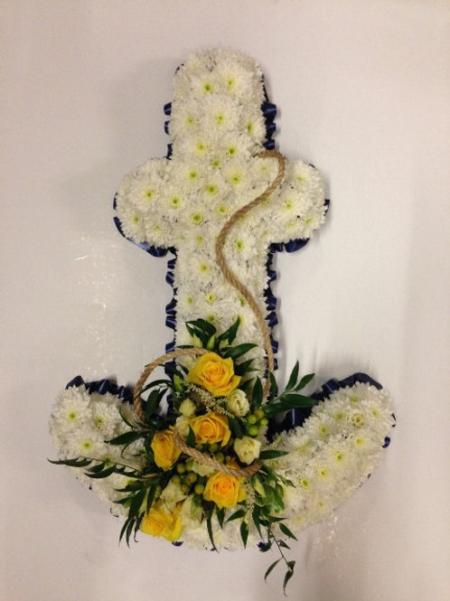 Based Anchor Tribute - funeral flowers