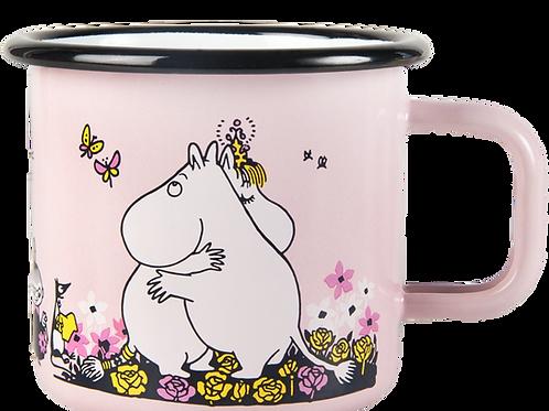Moomin Enamel Mug - Hug - Pink
