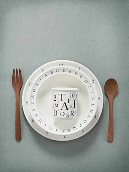 Kay Bojesen Childrens Tableware Set - 3pcs Danish Letters