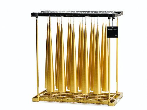 Ester & Erik Gold Cone Candle - 90 - 48cm - Metallic