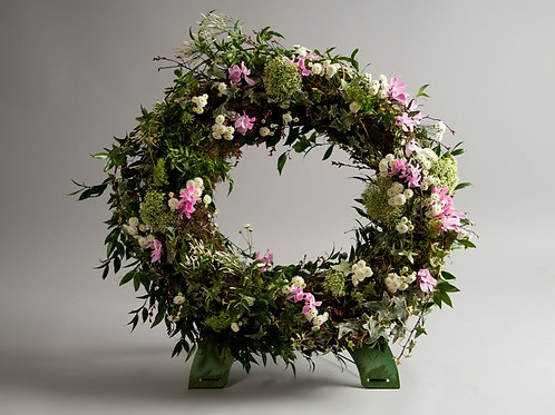 Country Standing Wreath - funeral flowers