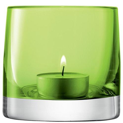 Lsa Light Colour Tealight Holder H8.5cm Lime