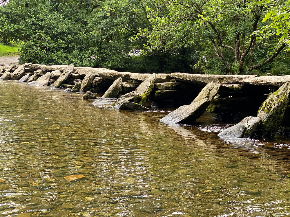 A view of Tarr Steps in the Exmoor National Park, Somerset