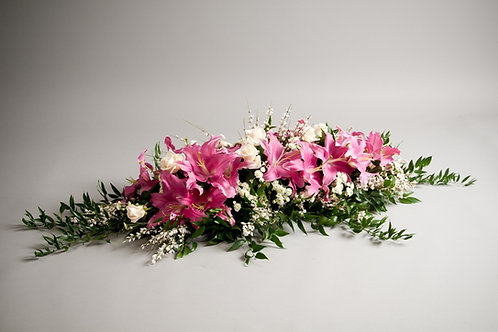 Lily & Rose Spray - funeral flowers