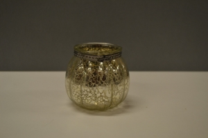 Silver Crackle Glass Votive